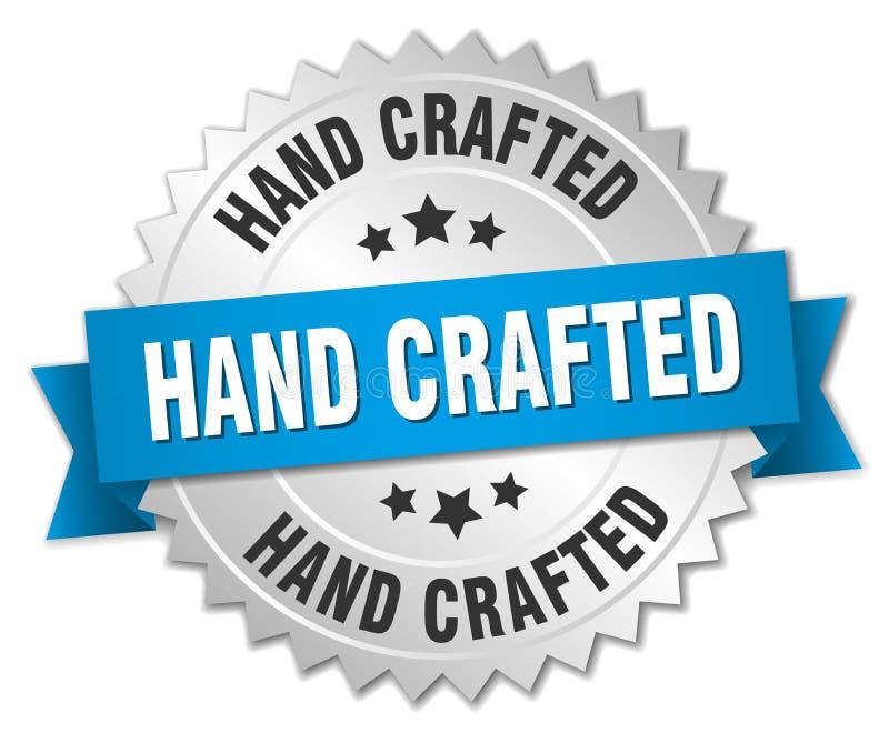 Hand bewerkt kenteken stock illustratie