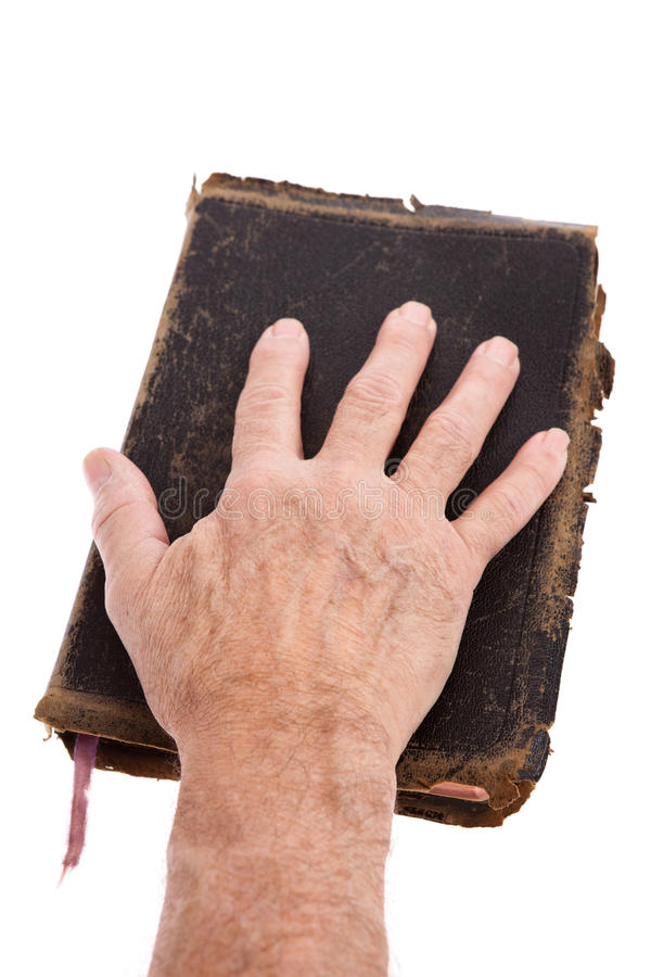 Download Hand on a Bible stock photo. Image of book, black, antique - 22521244