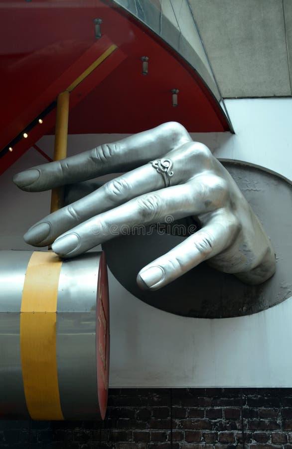 Hand bij Mevrouw de Stad van Tussauds Wax Museum New York stock afbeeldingen