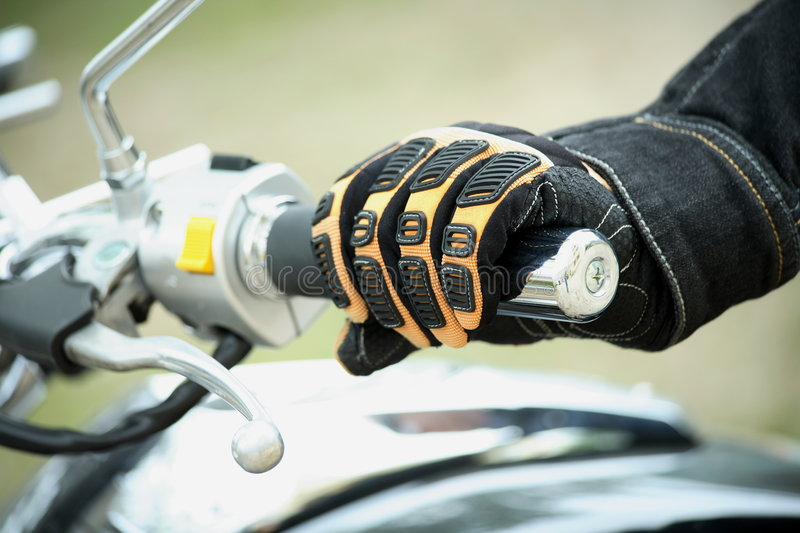 Hand biker stock photography