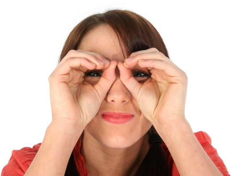 Hand Binoculars stock images