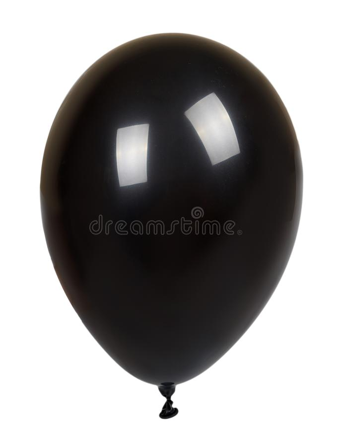 Hand with black inflateble balloon, party event decoration, glossy ball stock photos