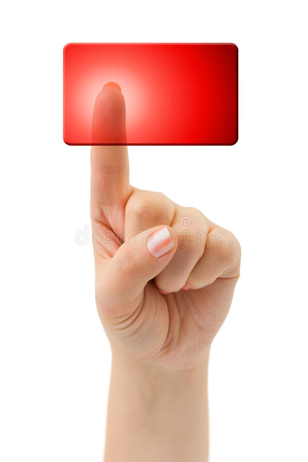 Download Hand and blank button stock image. Image of danger, finger - 17805633