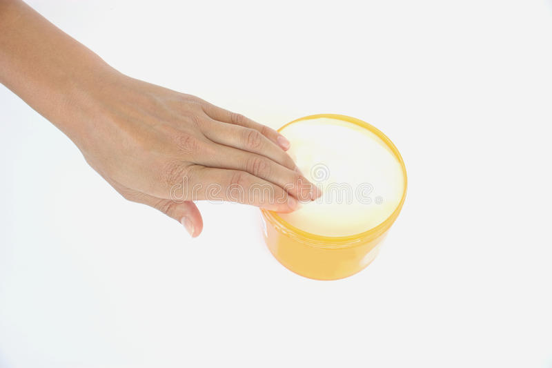 Download Hand with body cream stock photo. Image of hand, objects - 10438950