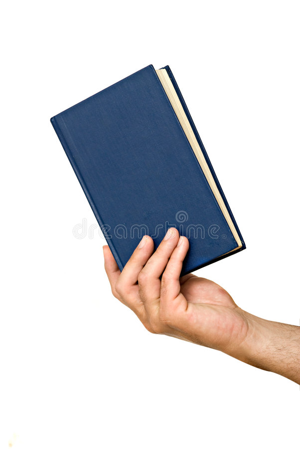 Hand with book stock photography