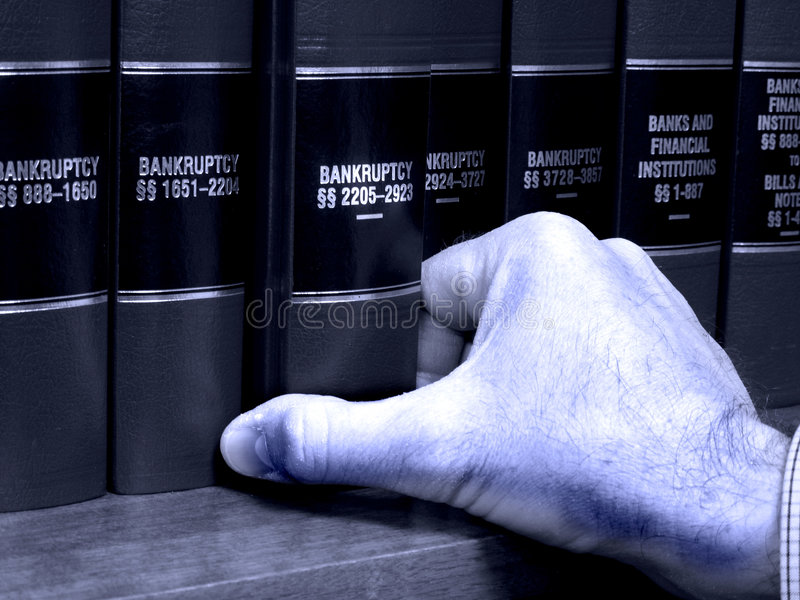 Download Hand On Book On Bankruptcy Stock Images - Image: 8800084