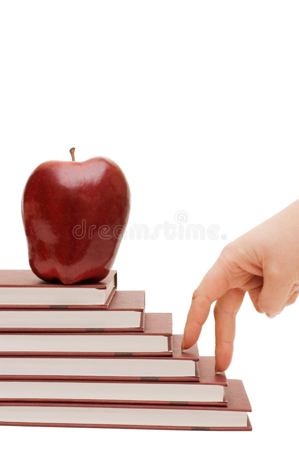 Hand And Book Stairs Royalty Free Stock Photos