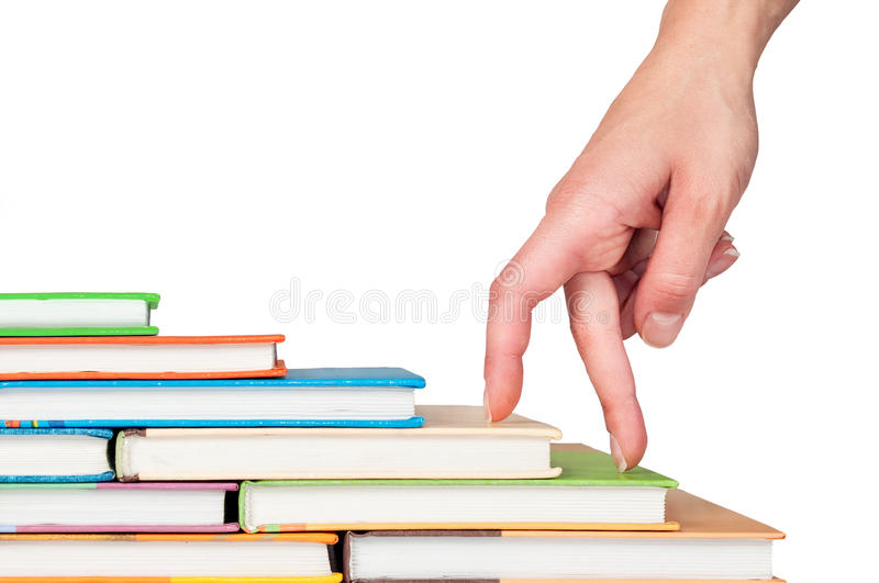 Hand And Book Stairs Stock Images