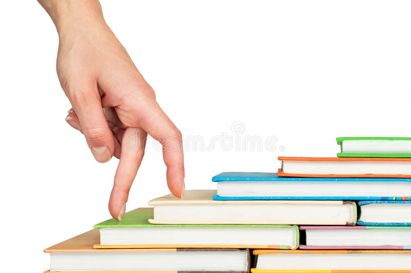 Download Hand and book stairs stock image. Image of idea, cultivation - 24130839