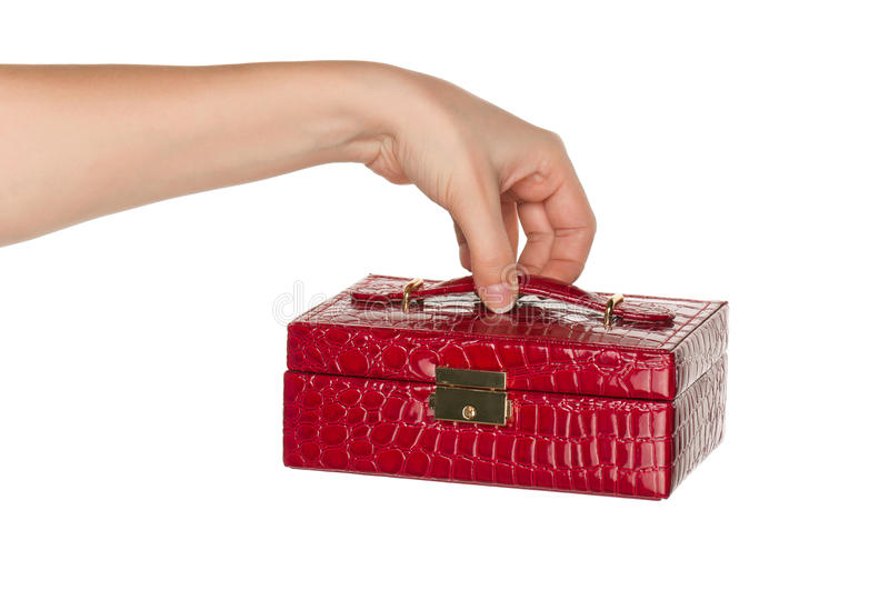 Hand with box royalty free stock image