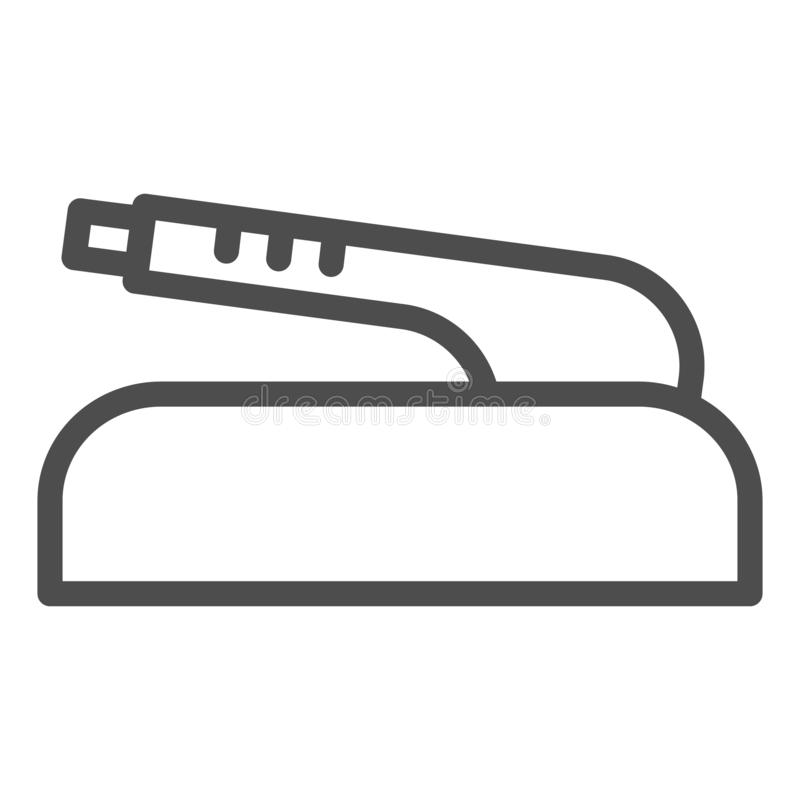 Hand brake line icon. Car part vector illustration isolated on white. Clutch brake outline style design, designed for. Web and app. Eps 10 royalty free illustration