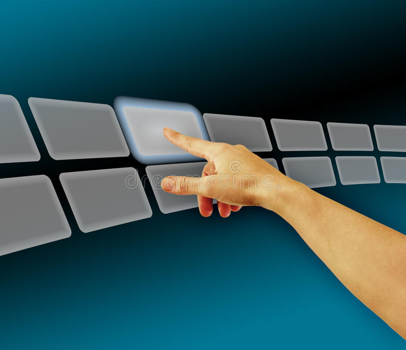 Download Hand Browsing Images In Touch Screen Virtual Space Stock Image - Image: 18481833