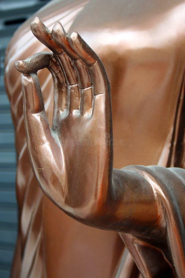 Hand of Buddha statue royalty free stock image