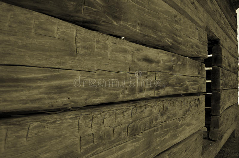 Hand Built Log Cabin stock photography