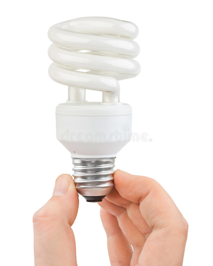 Download Hand with bulb stock image. Image of compact, illuminated - 22792213