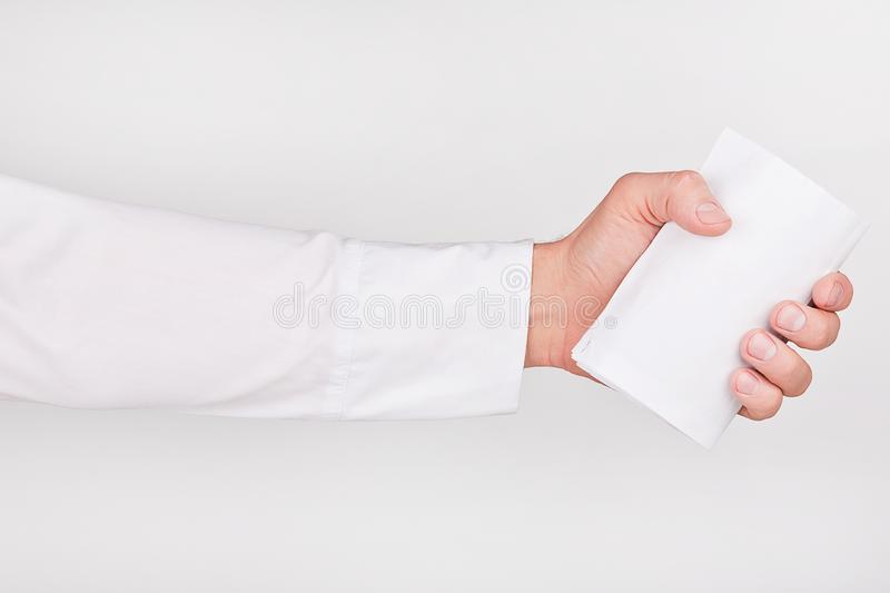 Download Hand With Business Card Royalty Free Stock Photography - Image: 18516617