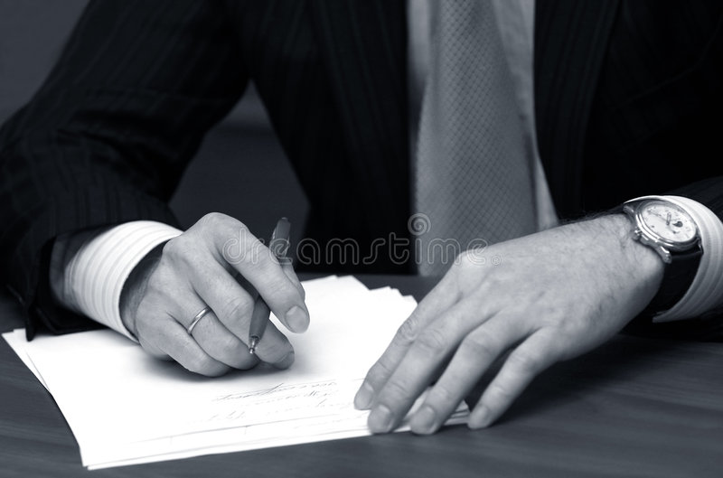 Hand of the businessman royalty free stock photos