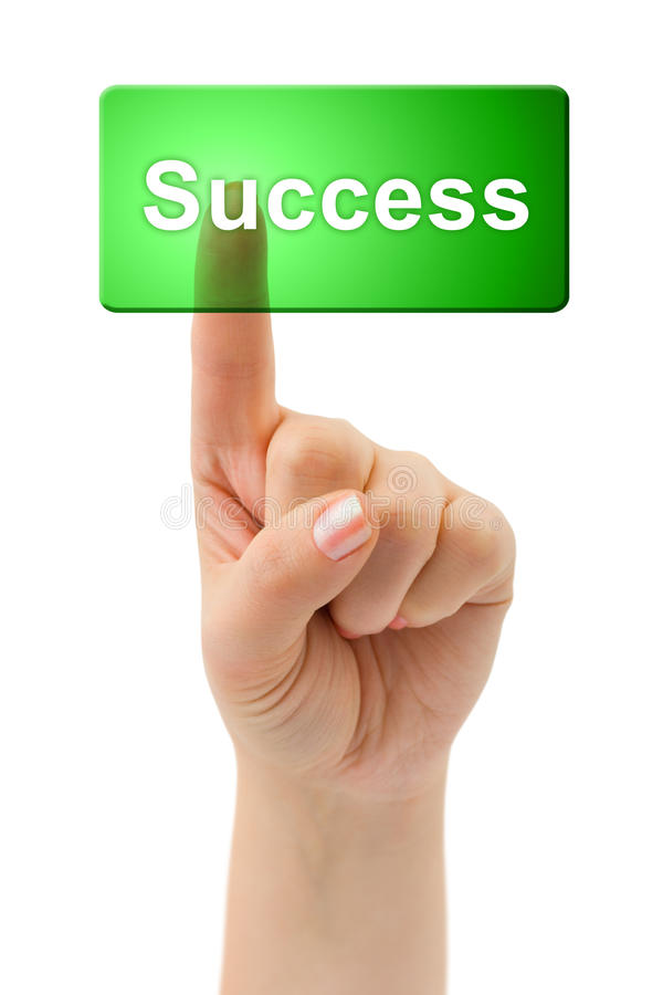 Download Hand and button Success stock image. Image of learning - 10477533