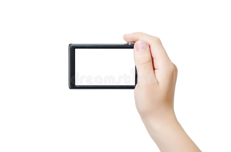 Hand With Camera Stock Image