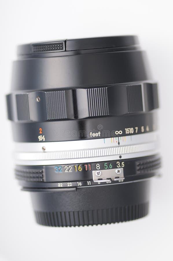 Hand cameralens stock fotografie