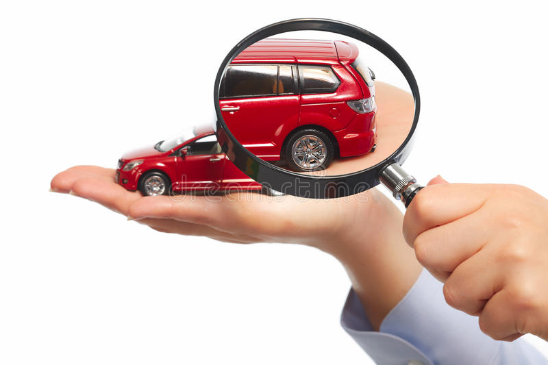 Hand with car. Auto dealership and rental concept background royalty free stock images