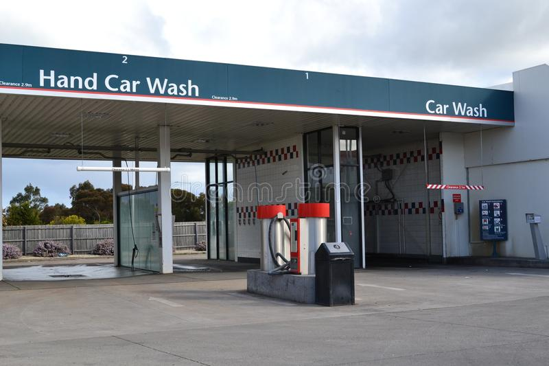 Hand car wash stations royalty free stock photography