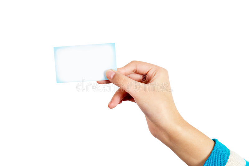 Download Hand and card stock photo. Image of space, blank, copy - 29023052