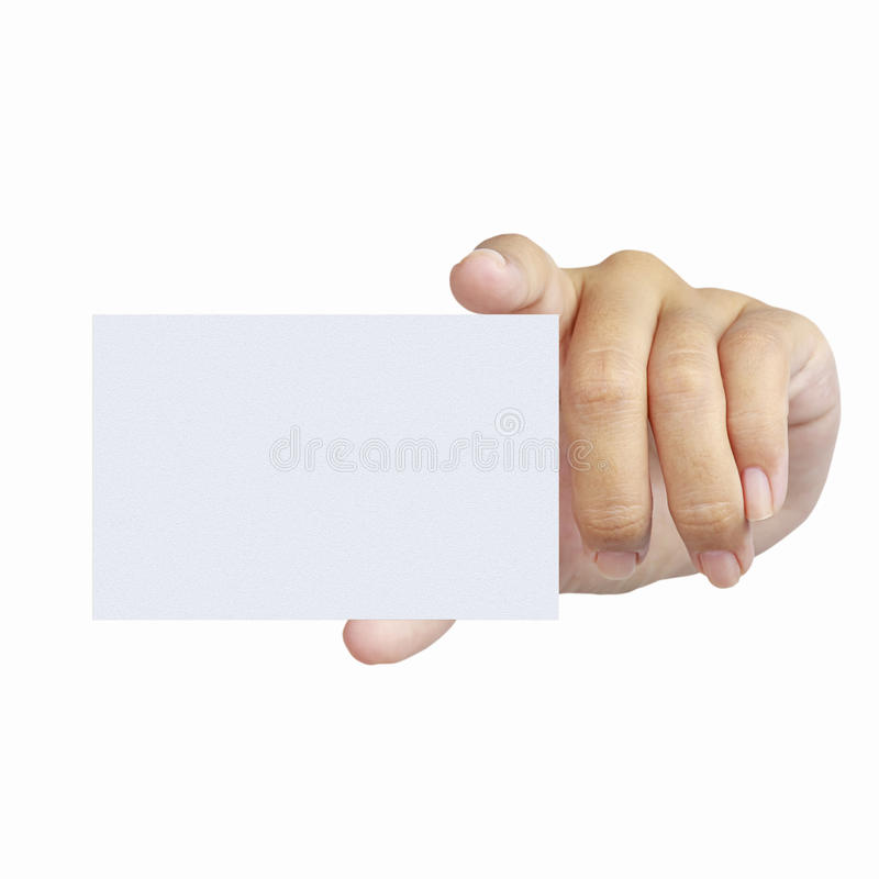 Download Hand And A Card Isolated On White Royalty Free Stock Photography - Image: 25683507