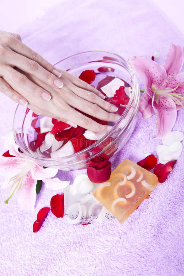 Download Hand Care With Aromatherapy Stock Image - Image: 15304043