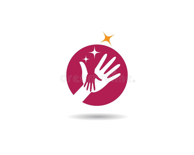 Hand care logo cemplate vector icon. Illustration, support, helpful, team, friendship, cooperation, love, teamwork, partnership, together, hope, charity vector illustration