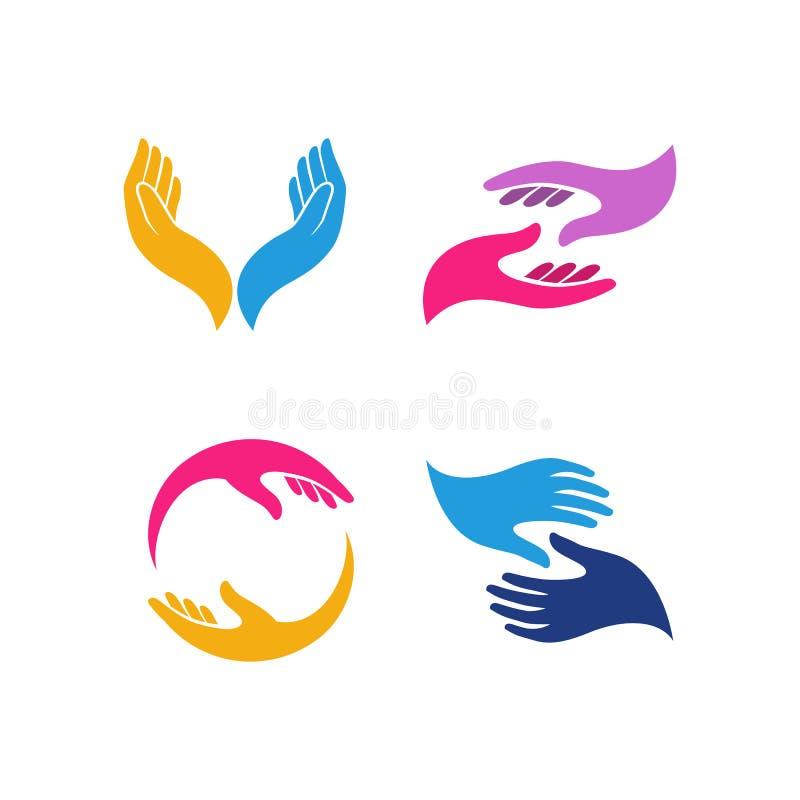 Hand Logo Stock Vector. Illustration Of Icon, Gear, Round