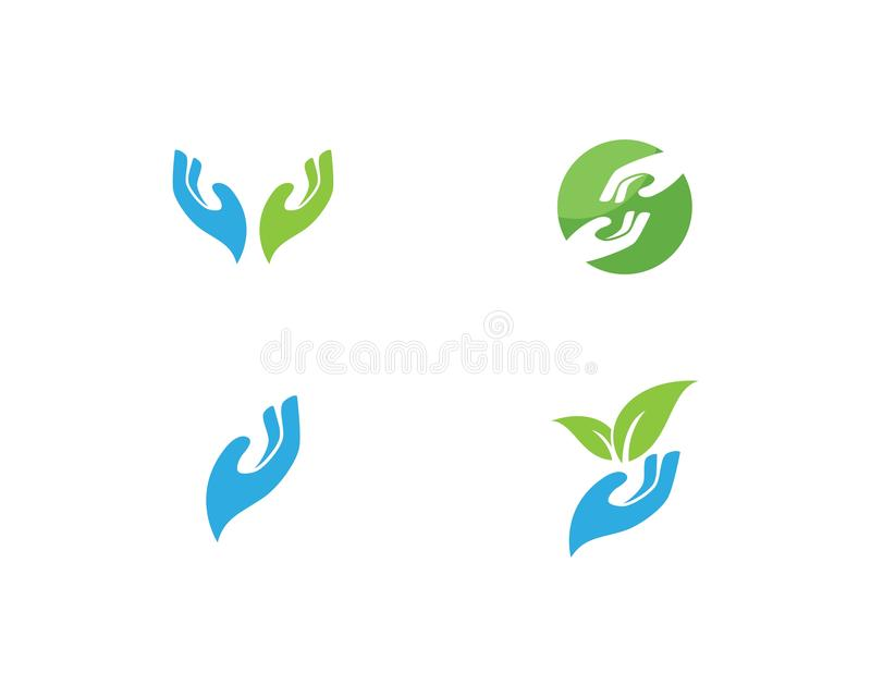 Hand Care Logo. Template vector royalty free illustration