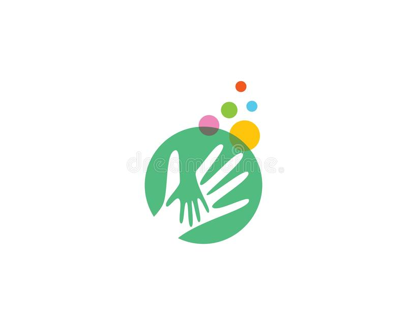 Hand Care Logo Template. Vector icon Busines, support, helpful, team, friendship, cooperation, love, teamwork, partnership, together, hope, charity, assistance vector illustration