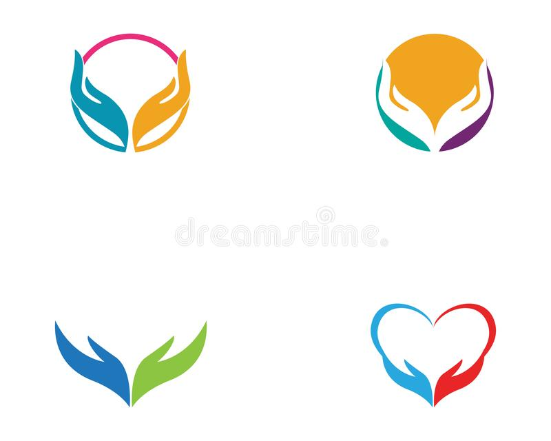 Hand Care Logo Template vector  Business. Hand Care Logo Template vector icon Business stock illustration
