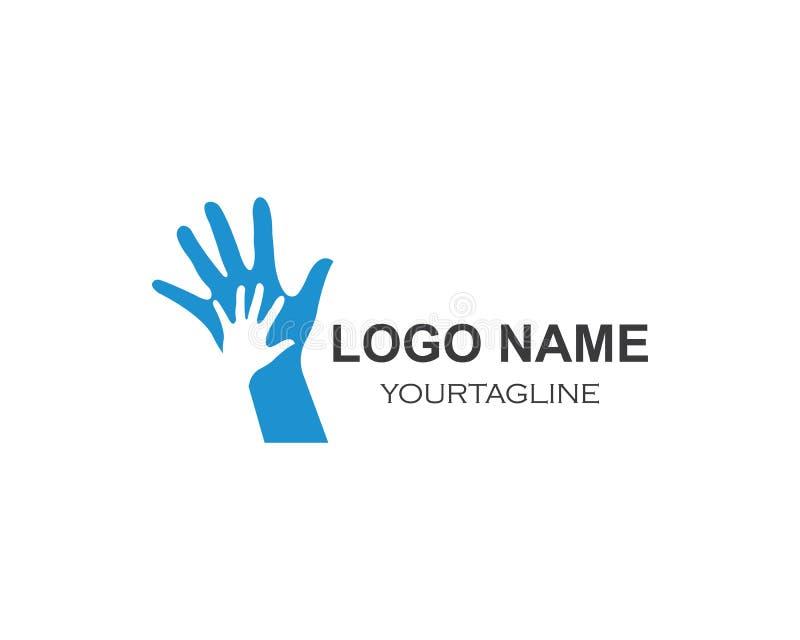 Hand Care Logo Template vector icon vector illustration