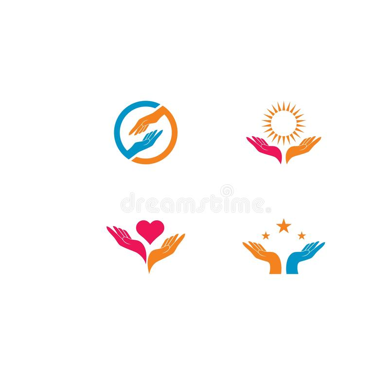 Hand Care Logo Template vector icon illustration royalty free illustration