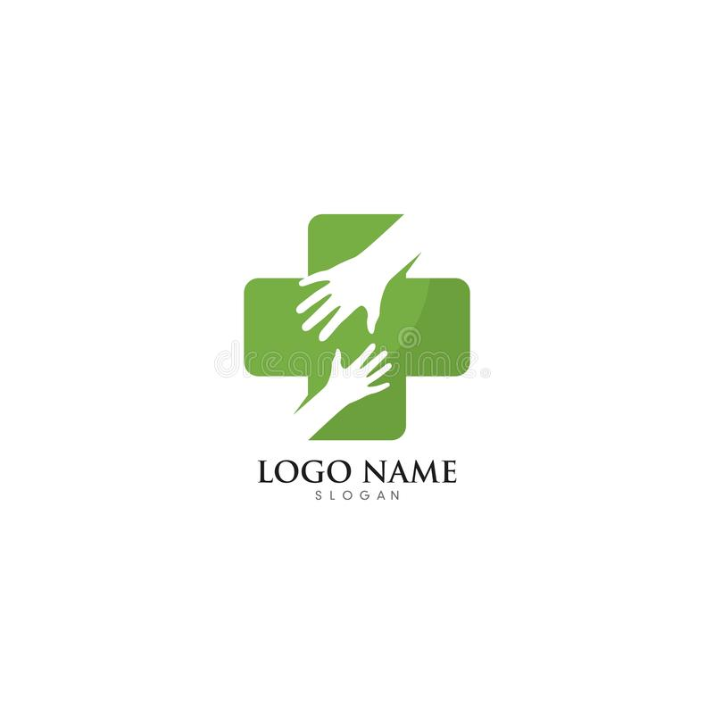 Hand Care Logo Template vector icon illustration. Design, hands, business, abstract, white, health, holding, support, symbol, isolated, together, happy vector illustration