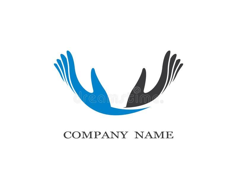 Hand care vector icon illustration. Hand care logo template vector icon illustration, support, helpful, team, friendship, cooperation, love, teamwork vector illustration