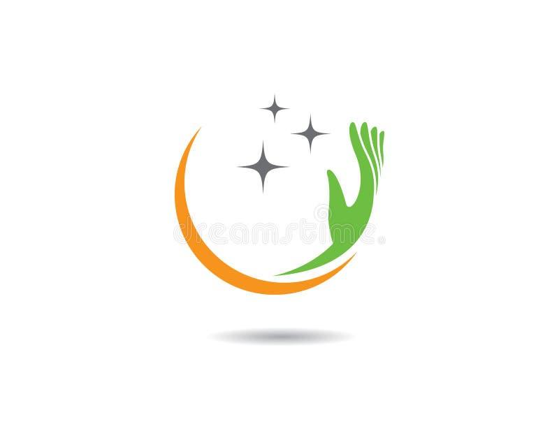 Hand care vector icon illustration. Hand care logo template vector icon illustration, support, helpful, team, friendship, cooperation, love, teamwork stock illustration