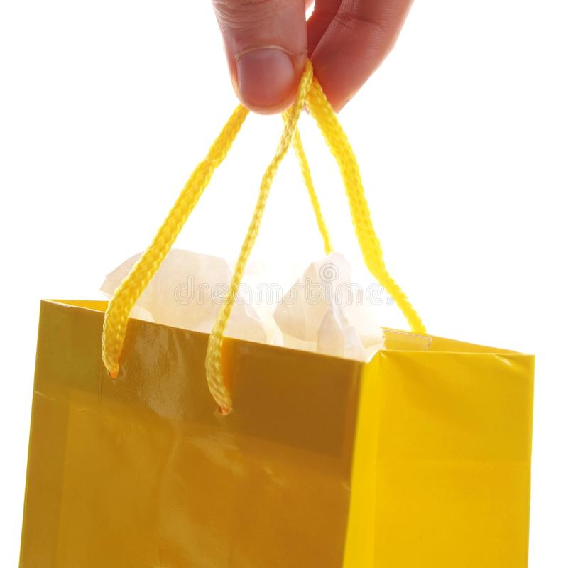 Download Hand carry  a shopping bag stock photo. Image of buyer - 18473682