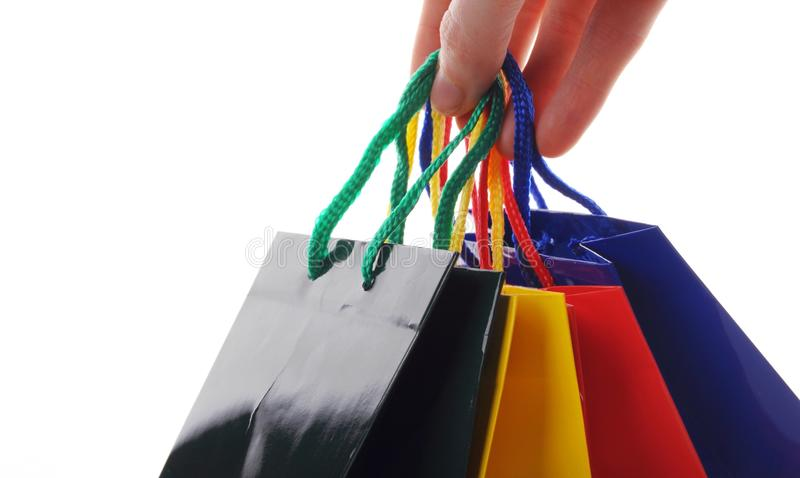 Hand carry  a shopping bag