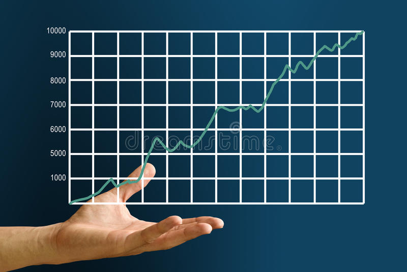Hand Carry The Stock Market S Graph Stock Images