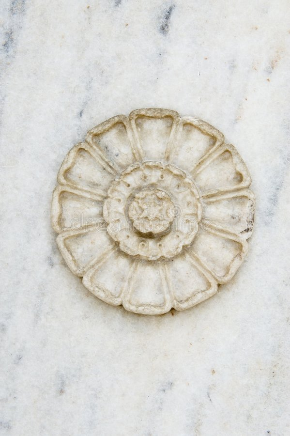 Hand carved stone design element royalty free stock photos