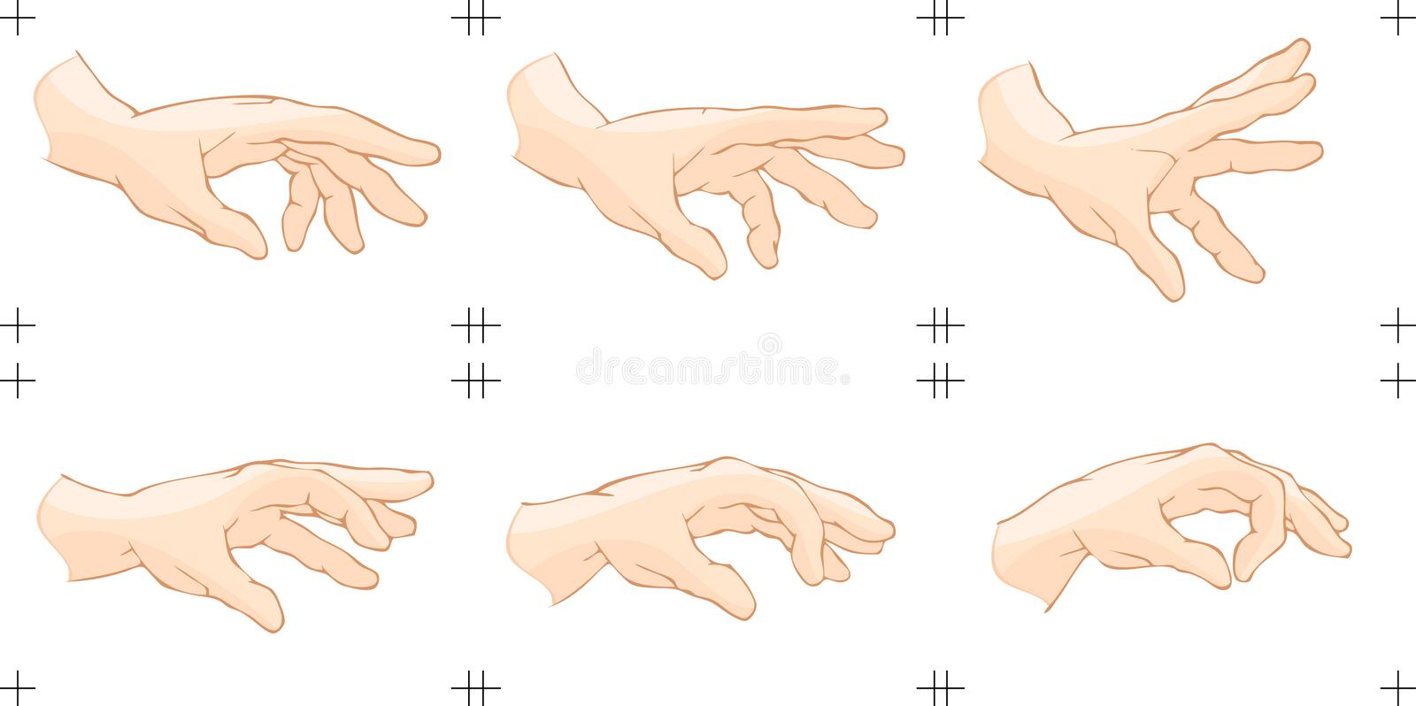 Hand Catch Animation vector illustration