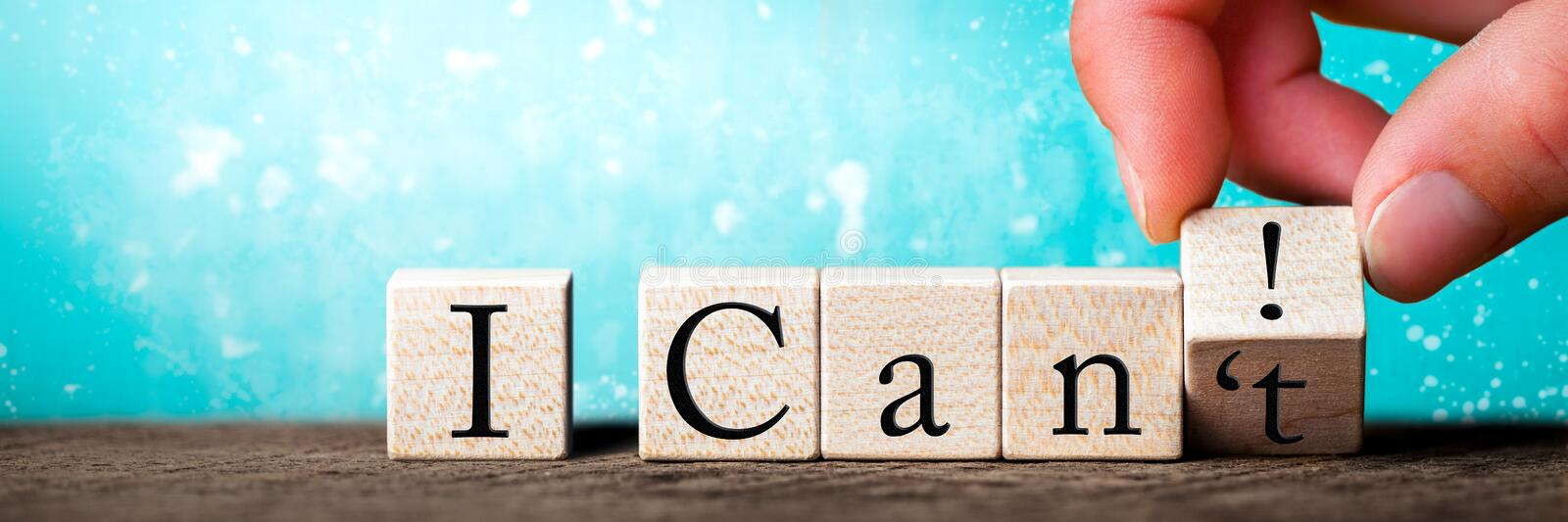 I Can/Can`t stock images