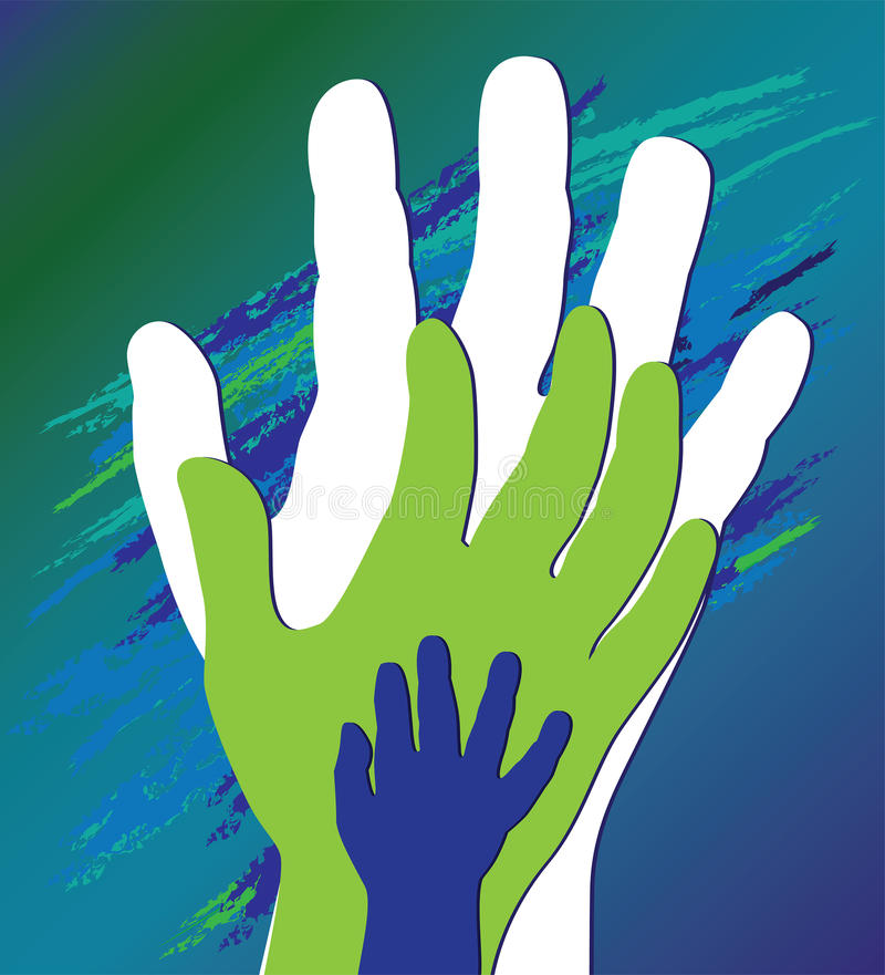 Hand Of The Child In Father Encouragement Stock Image