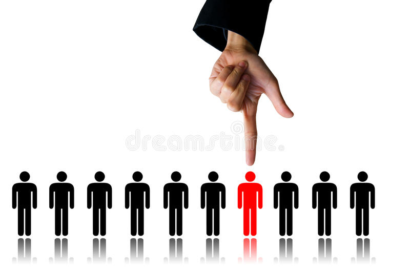 Hand choice person stock images