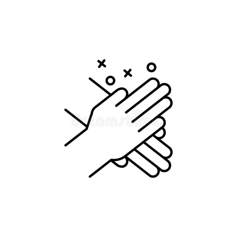 Hand clap friend icon. Element of friendship icon. On white background royalty free illustration
