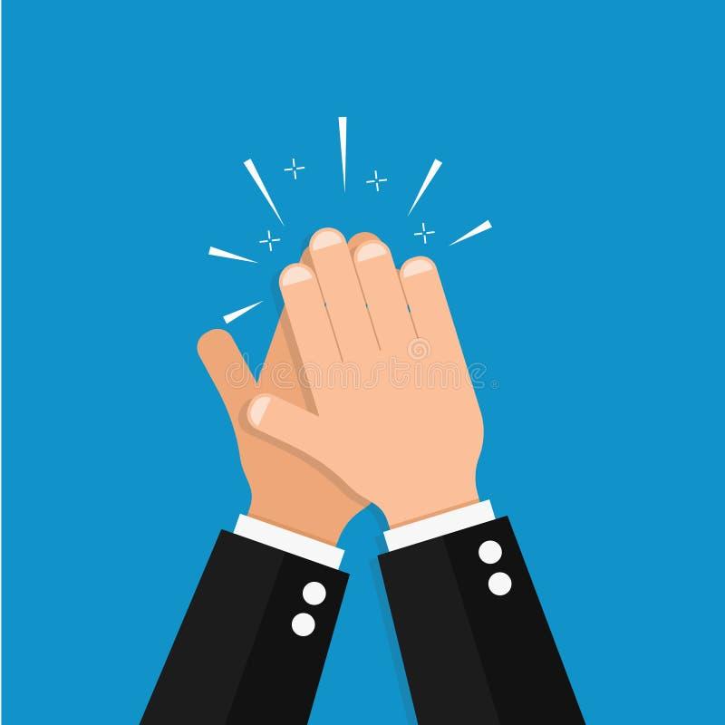 Hand clap vector success illustration. Acclaim icon vector illustration