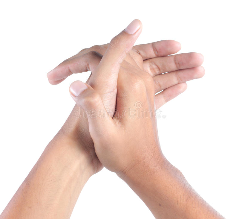 Hand clapping royalty free stock image